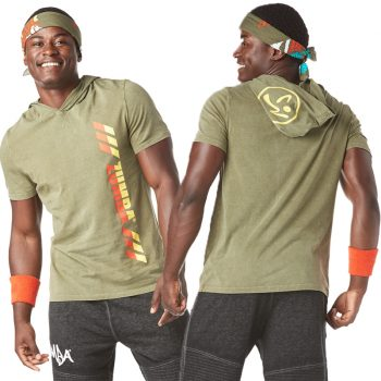 Olive Green Z2T00400 Strong by Zumba Rep After Rep Men/'s Top